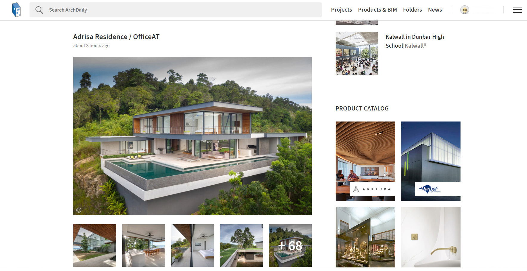 Panoramic Villa: Adrisa Residence on archdaily