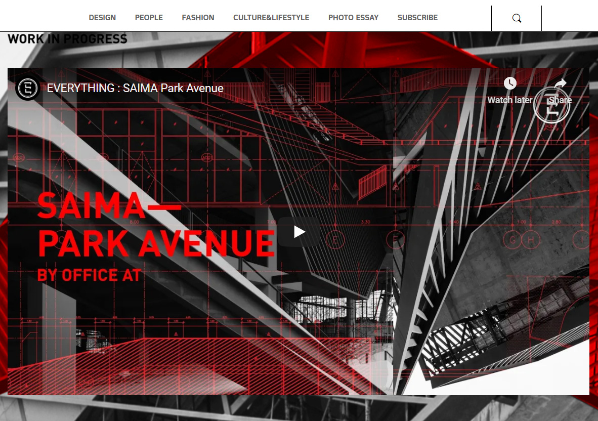 Saima Park Avenue construction short document from iameverything.co